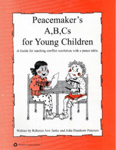 Children at a peace table